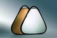 Visico TR-051 Silver/Gold треугольный отражатель серебро/золото 80 см