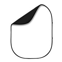 Fotokvant BG-1520 Black White  фон тканевый складной белый и черный 1.5х2 м