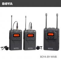 Boya BY-WM8 двухканальная УКВ беспроводная микрофонная система