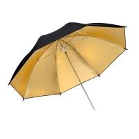 Raylab RUGB-84 зонт золотой на отражение с черной верхней поверхностью 84 см