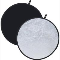 Fotokvant NVF-7602 светоотражатель серебро-черный диаметром 80 см