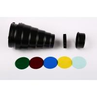 Fotokvant NVF-8607 узкоугольная насадка с цветными фильтрами