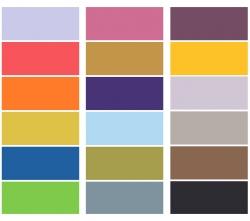 Обновление цветовой таблицы бумажных фонов
