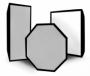 Rekam SLBR 39 жаропрочный софтбокс с углублением серебряный 30х90 см