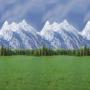 Ella Bella FADELESS MOUNTAINS (56875) фон бумажный горы 120х300 см