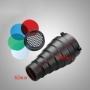 Visico SN-303 узкоугольная насадка с сотой и четырьмя цветными фильтрами