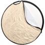 Raylab RRF-80-Grip Sunlight/White светоотражатель белый/золотистый с ручкой 80 см