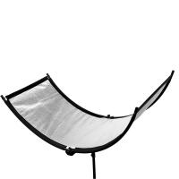 Fotokvant RW-60150S светоотражатель полукруглый серебряный размером 60х150 см на каркасе