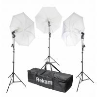 Rekam CL-465-FL3-UM kit комплект флуоресцентных осветителей с зонтами