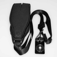 Fotokvant STR-34 ремень черный неопреновый с площадкой для фотоаппарата
