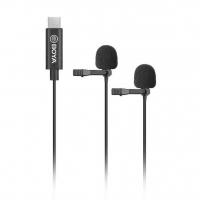Boya BY-M3D двойной петличный микрофон для смартфонов и планшетов