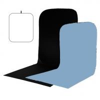 Visico BP-026 складной черный/белый/голубой фон с пологом 1,5х1,8х2 м