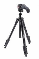 Manfrotto MKCOMPACTACN-BK Compact Action штатив с фото- и видеоголовкой для фотокамеры (черный)