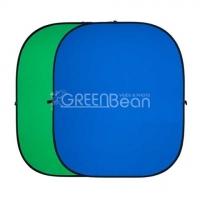 GreenBean Twist фон тканевый хромакей двухсторонний сине-зеленый на каркасе 180х210 см