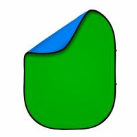 Fotokvant BG-1520 Blue Green фон тканевый складной синий-зеленый хромакей 1.5х2 м