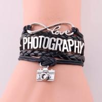 Fotokvant NVF-6619 подарочный кожаный браслет любителям фотографии