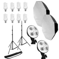Grifon DHL-60 комплект флуоресцентного освещения для съемки фото и видео с октобоксами 60 см
