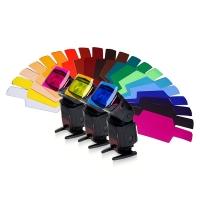 Fotokvant GEL-02 комплект гелевых фильтров для накамерных вспышек Canon/Nikon/Yongnuo/Nissin 20 шт.