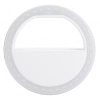 Fotokvant NVF-6854 кольцевой осветитель для смартфона белый