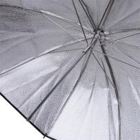 Fotokvant NVF-6880  зонт серебряный с гранулированной поверхностью на отражение 105 см