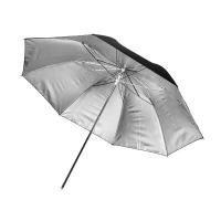 Fotokvant NVF-6891 зонт серебряный на отражение с черной поверхностью 91 см