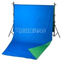 GreenBean Field фон тканевый хромакей двухсторонний сине-зеленый 240х700 см