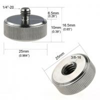 Fotokvant FLH-15 стальной адаптер-переходник 3/8 на 1/4 дюйма