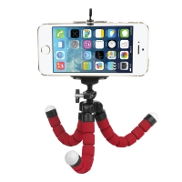Fotokvant TM-01 Red мини-штатив на гибких ножках для смартфона Samsung/Xiaomi/Apple красный