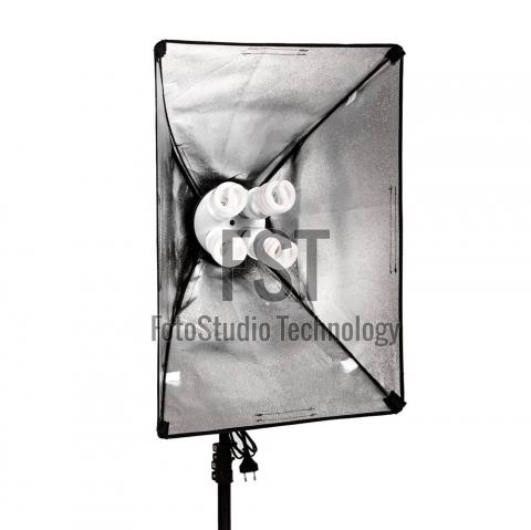 FST KF-104II 4x45W флуоресцентный осветительный прибор с софтбоксом 60x80 см