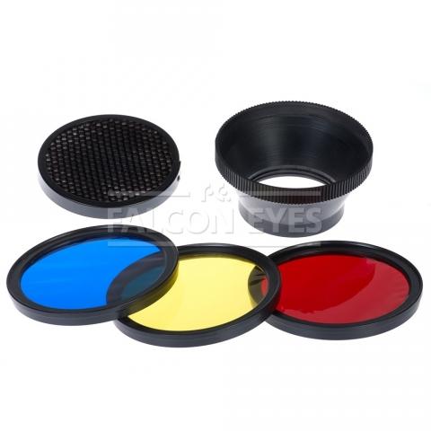 Falcon Eyes MFA-HC набор цветных фильтров и сотовая насадка для вспышек серии вспышки MF