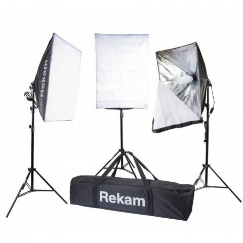 Rekam CL-375-FL3-SB kit комплект флуоресцентных осветителей с софтбоксами