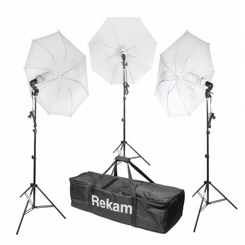 Rekam CL-375-FL3-UM kit комплект флуоресцентных осветителей с зонтами