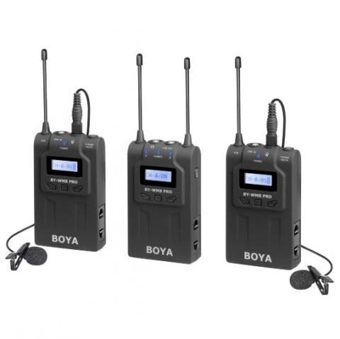Boya BY-WM8 Pro-K2 двухканальная УКВ беспроводная микрофонная система