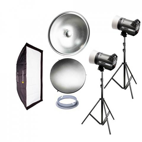 Fotokvant iconic basic kit Elinchrom BRX 500 комплект импульсного освещения