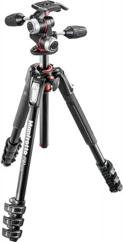 Manfrotto MK190XPRO4-3W 190 Alu 3 section Kit 3w-head штатив для фото- или видеокамеры