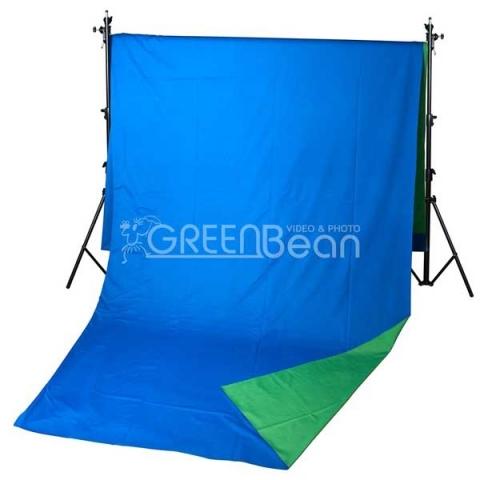GreenBean Field фон тканевый хромакей двухсторонний сине-зеленый 240х500 см