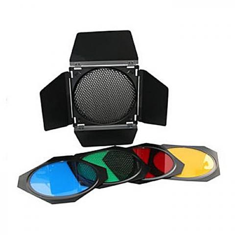 """Grifon BD-04/BD-200 шторки с цветными фильтрами для рефлектора 7""""(18 см)"""