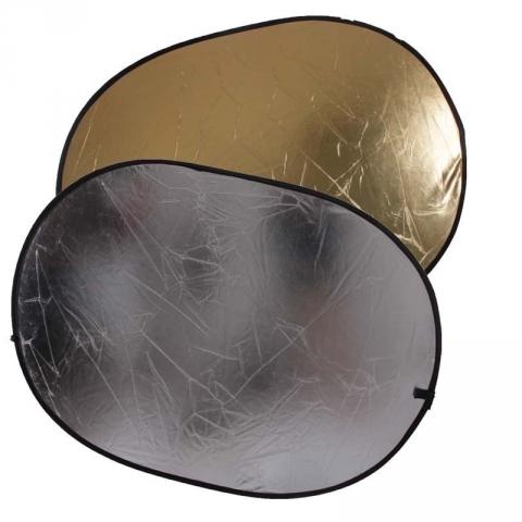 FST RD-021GS отражатель 2 в 1 золото/серебро 100х150