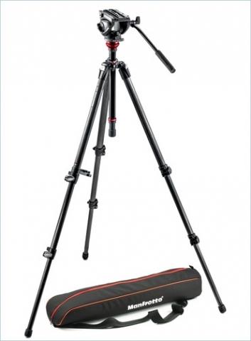 Manfrotto 755CX3 штатив с видеоголовкой MVH500AH для видеокамеры