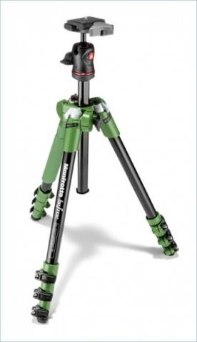 Manfrotto MKBFRA4G-BH Befree штатив и шаровая головка для фотокамеры зеленого цвета