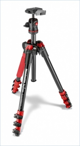 Manfrotto MKBFRA4R-BH Befree штатив и шаровая головка для фотокамеры красного цвета