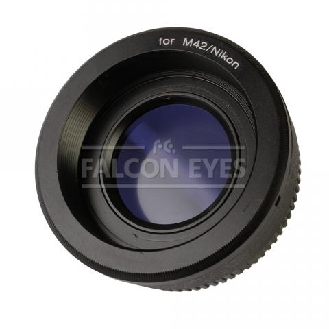 Falcon Eyes переходное кольцо M42 на Nikon с линзой