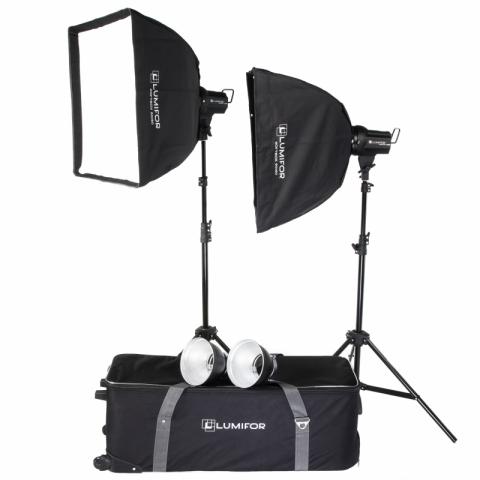 Lumifor AMATO 200 CLASSIC KIT комплект импульсных осветителей 2х200 Дж