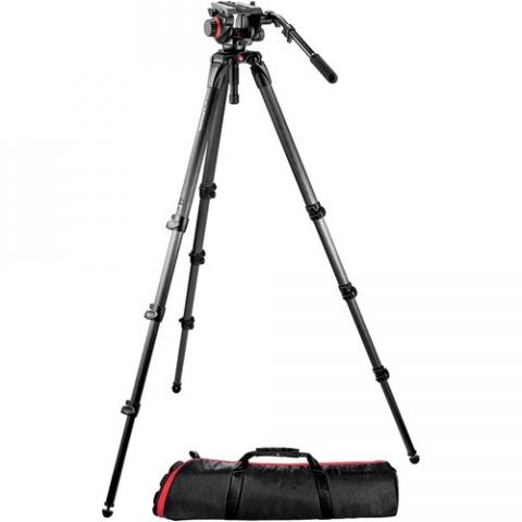 Manfrotto 536K штатив с видеоголовкой 504HD для видеокамеры