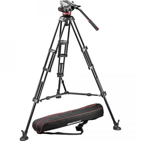 Manfrotto 546BK-1 штатив с видеоголовкой MVH502A для видеокамеры