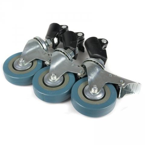 Lumifor LWL-22 колеса для студийной стойки 3 шт. посадочный диаметр 22.5 мм