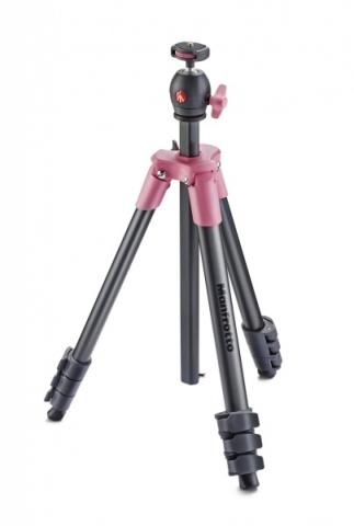 Manfrotto MKCOMPACTLT-PK Compact Light штатив с шаровой головкой для фотокамеры (розовый)