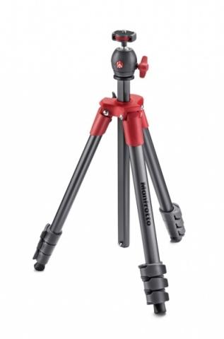 Manfrotto MKCOMPACTLT-RD Compact Light штатив с шаровой головкой для фотокамеры (красный)