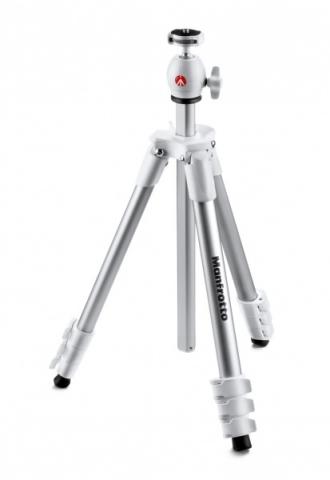 Manfrotto MKCOMPACTLT-WH Compact Light штатив с шаровой головкой для фотокамеры (белый)
