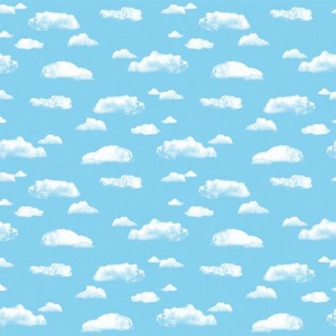 Ella Bella COROBUFF CLOUDS (12850) фон бумажный объемный белые облака 120х190 см